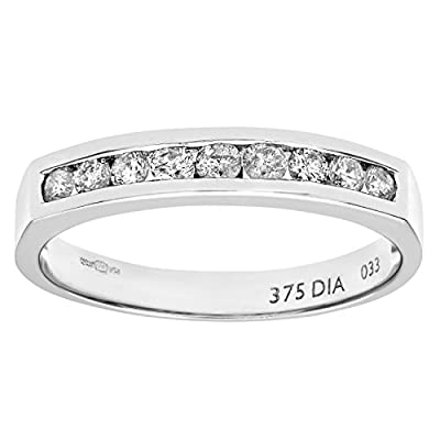 Ariel 9ct White Gold Diamond Channel Set Eternity Ring