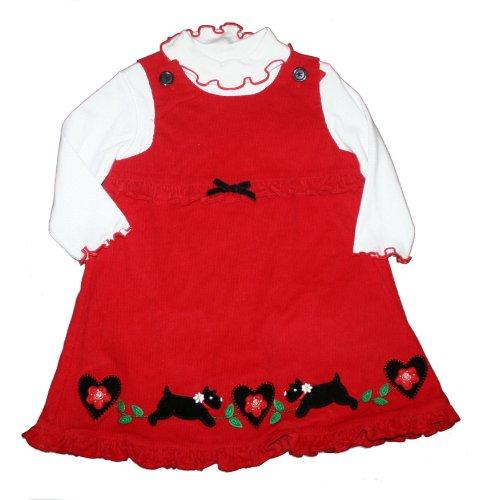 7b4150897 Good Lad Baby Infant Girl s 2 Piece Scottie Dog Jumper Set 18 Months ...