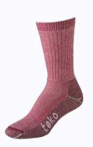 Teko M3RINO.XC MERINO Midweight Women's Hiking Socks, Cranberry, Small