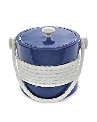 Mr. Ice Bucket 455-1 Navy Rope Ice Bucket 3-Quart