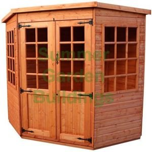 Summer Garden Buildings Corner Summerhouse - Shiplap, T&G Floor & Roof - 6' x 6'