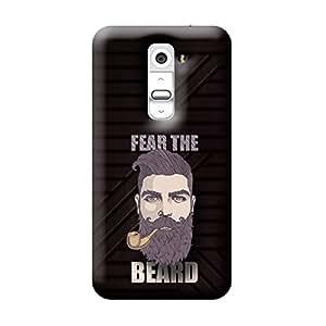 Garmor Fear The Beard Design Plastic Back Cover For LG G2 D802