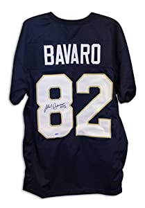 Mark Bavaro Notre Dame Fighting Irish Autographed Hand Signed Navy Blue Throwback...
