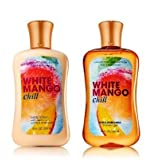 Bath & Body Works Signature Collection WHITE MANGO CHILL DUO Body Lotion & Shower Gel. Gift Set