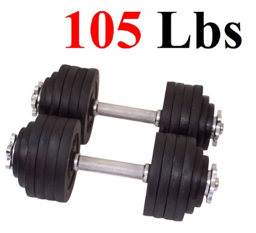 One Pair of Adjustable Dumbbells Cast Iron Total 105