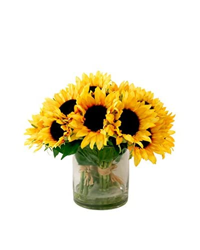 Creative Displays Sunflower Bouquets in Water, Yellow/Brown/Green