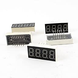 TOOGOO(R) 5 Pcs Common Cathode 12 Pin 4 Bit 7 Segment 0.36\