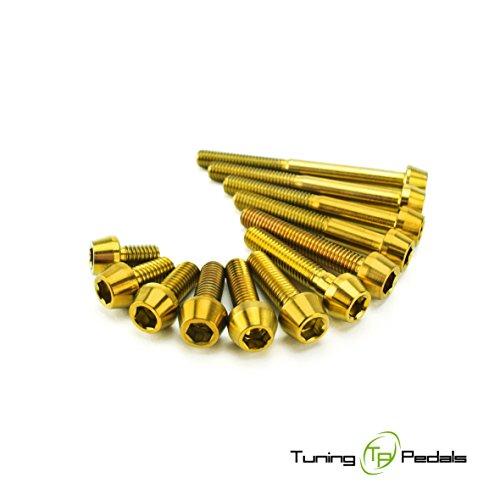 M5 Titanschraube nach DIN 912, konischer Kopf, gold