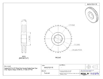 tsubaki d60ctl36 roller chain sprocket, double strand ... fuel pump wiring diagram for 1996 mustang tsubaki wiring diagram #9