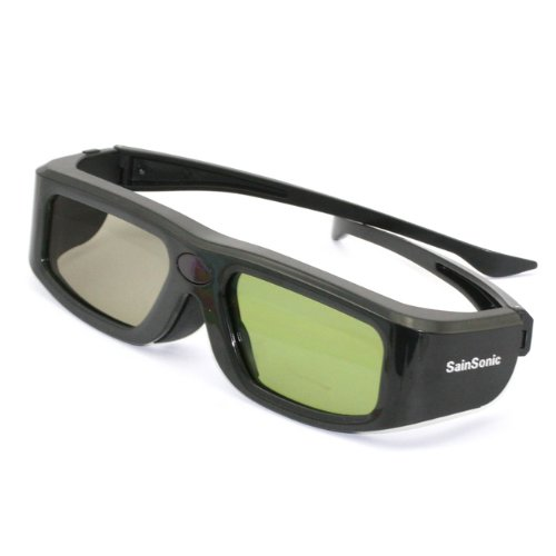 Sainsonic Branded Ssz-200B Universal 3D Rechargeable Infrared Active Shutter Glasses For Panasonic, Samsung, Sony, Sharp, Philips, Lg 3D Hdtvs *Newest Version In Black*