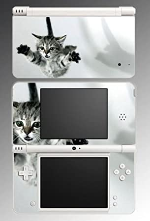 Tabby Kitten Kitty Cat Cute Pet Girls Animals Game Vinyl Decal Cover Skin Protector 3 for Nintendo DSi XL