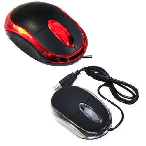 Importer520 Black 3-Button 3D Usb 800 Dpi Optical Scroll Mice Mouse Red Leds For Notebook Laptop Desktop