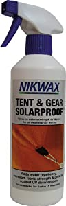 Buy Nikwax Tent And Gear Solarproof Spray-on Tent Waterproofer - 0.5lt by Nikwax