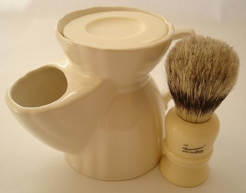Progress Vulfix 404 Badger/bristle shaving brush & shaving mug