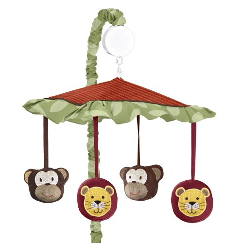 Jungle Time Musical Baby Crib Mobile By Sweet Jojo Designs front-234286