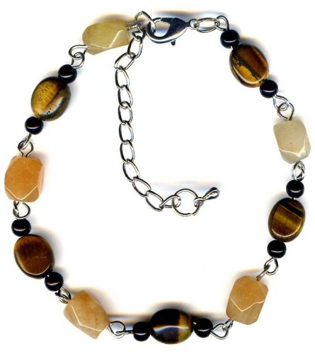 Bracelet made up of Tiger eye and Carnelian