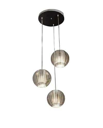 Trend Lighting 3-Light Phoenix Pendant Lamp, Silver