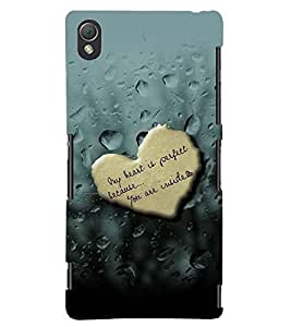 PRINTSWAG HEART WITH QUOTE Designer Back Cover Case for SONY XPERIA Z3