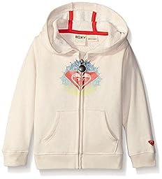 Roxy Girls\' Henna Logo Hoodie, Metro Heather, 6-12 Months