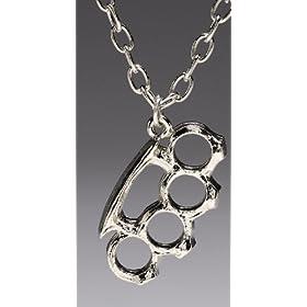 Rock Rebel Knuckles Pendant Necklace