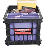 Staples File Storage Crates, Black