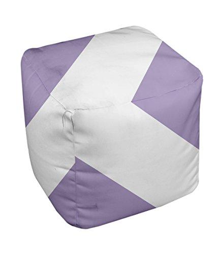 E by design Stripe Pouf, 13-Inch, 1Lilac Purple