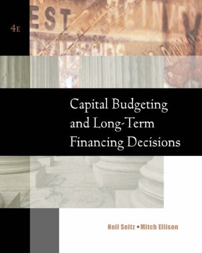 Capital Budgeting and Long-Term Financing Decisions PDF