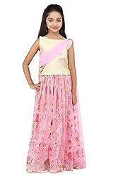 K&U Western Style Offwhite & Pink Lehenga Choli