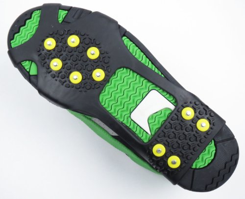 ワンタッチ 滑り止め ノンスリップ ソール 滑らない 靴用 スパイク (M 23.5cm-26cm ブラック)