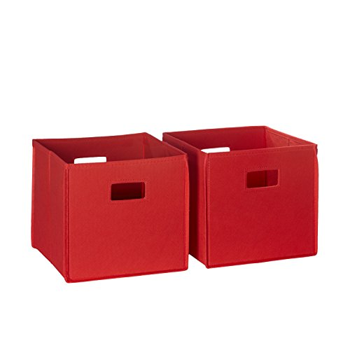 RiverRidge Kids 2pc Soft Storage Bins ? Red