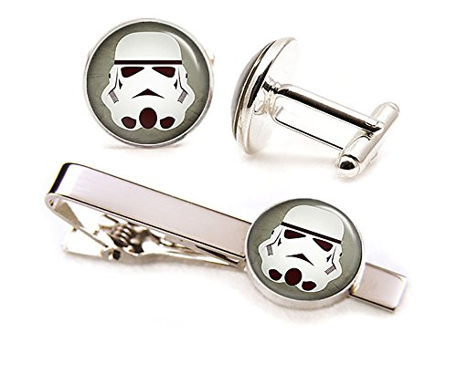 Stormtrooper-Cufflinks-Star-Wars-Tie-Clip-Stormtroopers-Jewelry-Jedi-Cuff-Links-Darth-Vadar-Death-Star-Star-Wars-Wedding-Party-Gifts-Groomsmen-Gift