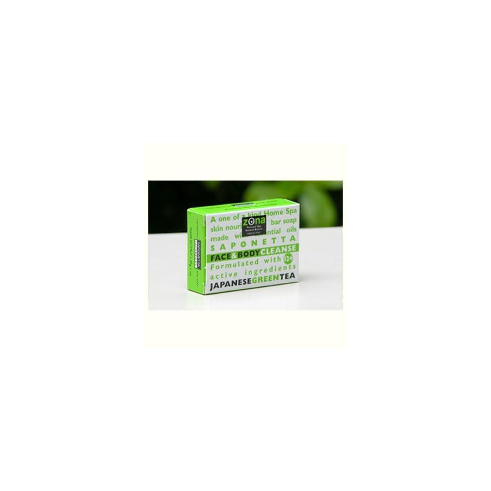 Zona Saponetta Face & Body Cleanse   Japanese Green Tea 1oz.