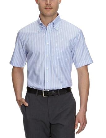 Arrow Herren Businesshemd Regular Fit, gestreift BOYD REG FIT SS / CL00182I47, Gr. 40, Rot (043 Medium Red)