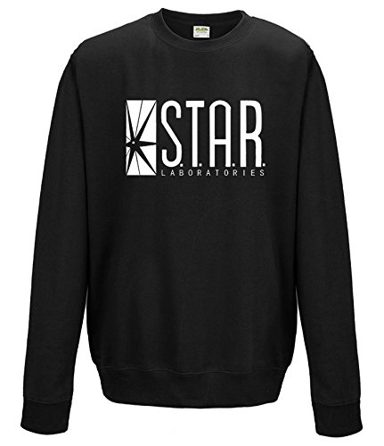 star-labs-flash-arrow-pull-tricot-noir-medium