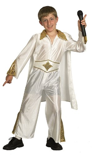 Boys Kid Elvis King Of Rock Fancy Dress Costume Large