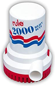 Rule 10 Marine Rule 2000 Marine Bilge Pump (2000-GPH, 12-Volt) by Rule