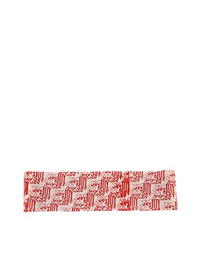 Fantastic Craft 8″ x 70″ Joy Ribbon, Red/Cream