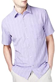 Soft Touch Space Dye Striped Shirt [T25-7711M-S]