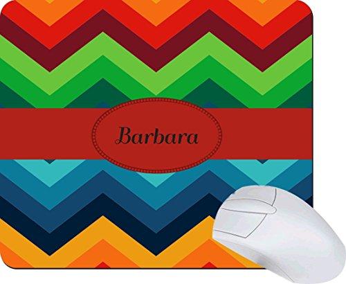 Rikki Knighttm Barbara Name On Fall Autumn Colors Chunky Chevron Zig Zag Design Lightning Series Gaming Mouse Pad front-572422