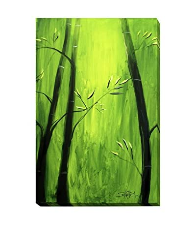 Michael Hitt Bamboo At A Frogs View Weather-Resistant Canvas Print