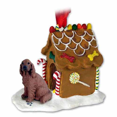 Setter irlandais en pain d'épices maison décoration de Noël-Superbe.