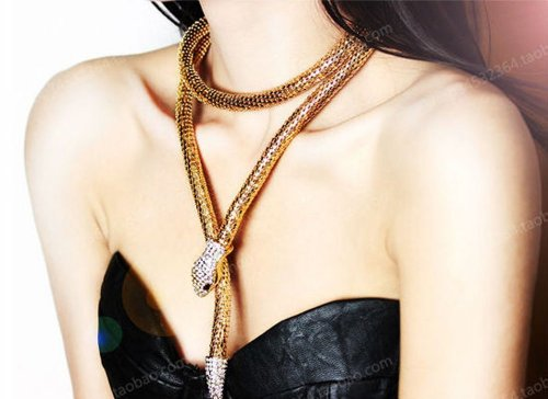 Flexible Snake Jewelry Necklace