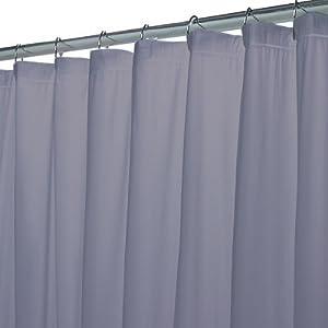 Slate Blue Hotel Weight Premium Vinyl Shower Curtain Liner By Carnation
