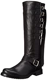 FRYE Women\'s Veronica Strap Tall-TUFG Engineer Boot,  Black, 9 M US