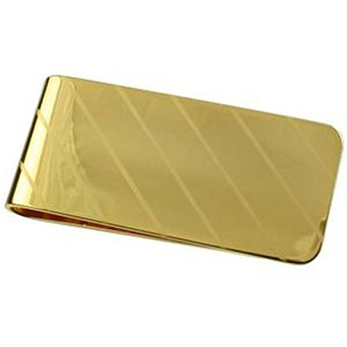 APS Stripe Gold-Fermasoldi placcato oro, 55 mm