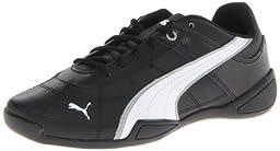 PUMA Tune Cat B 2 JR Sneaker (Little Kid/Big Kid) , Black/White/Limestone Gray, 12.5 M US Little Kid