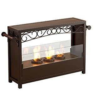 Sei Amz1485 Acosta Portable Indoor Outdoor Fireplace Gel Fuel Fireplaces