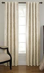 Sound Asleep Room-Darkening Noise-Reducing Backtab Window Panel, Ivory, 42 \