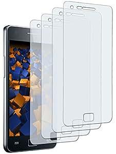 4 x mumbi Displayschutzfolie Samsung i9100 Galaxy S II Displayschutz CrystalClear unsichtbar Folie Galaxy 2 S2 SII Schutzfolie