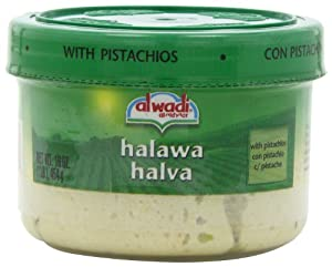 Al Wadi Halawa, with Pistachios, 16-Ounce Container (Pack of 4)